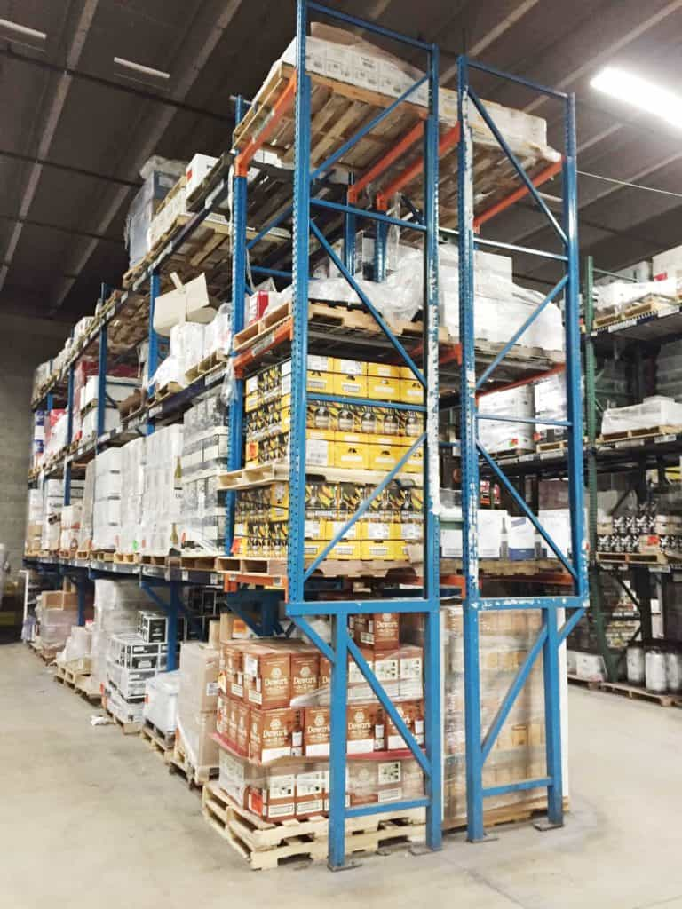 warehouse shelving removal service