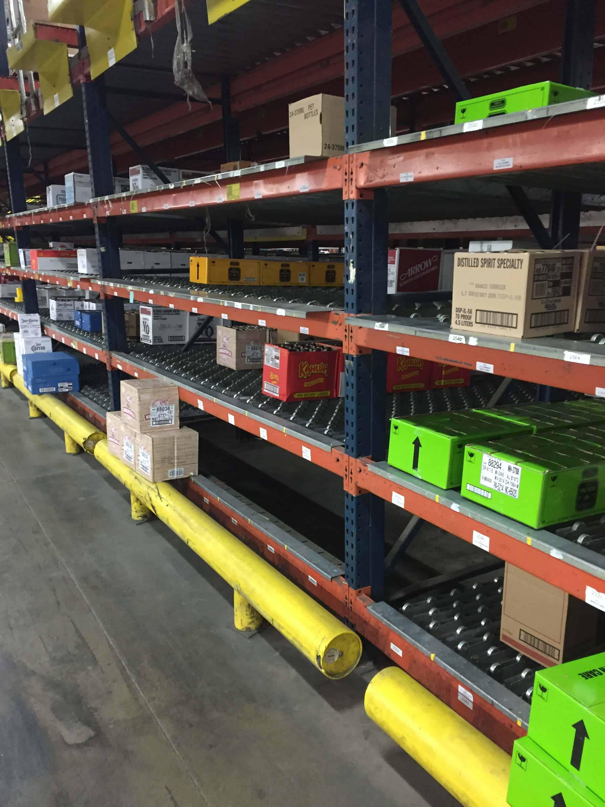 Rack Shelves with Carton Flow