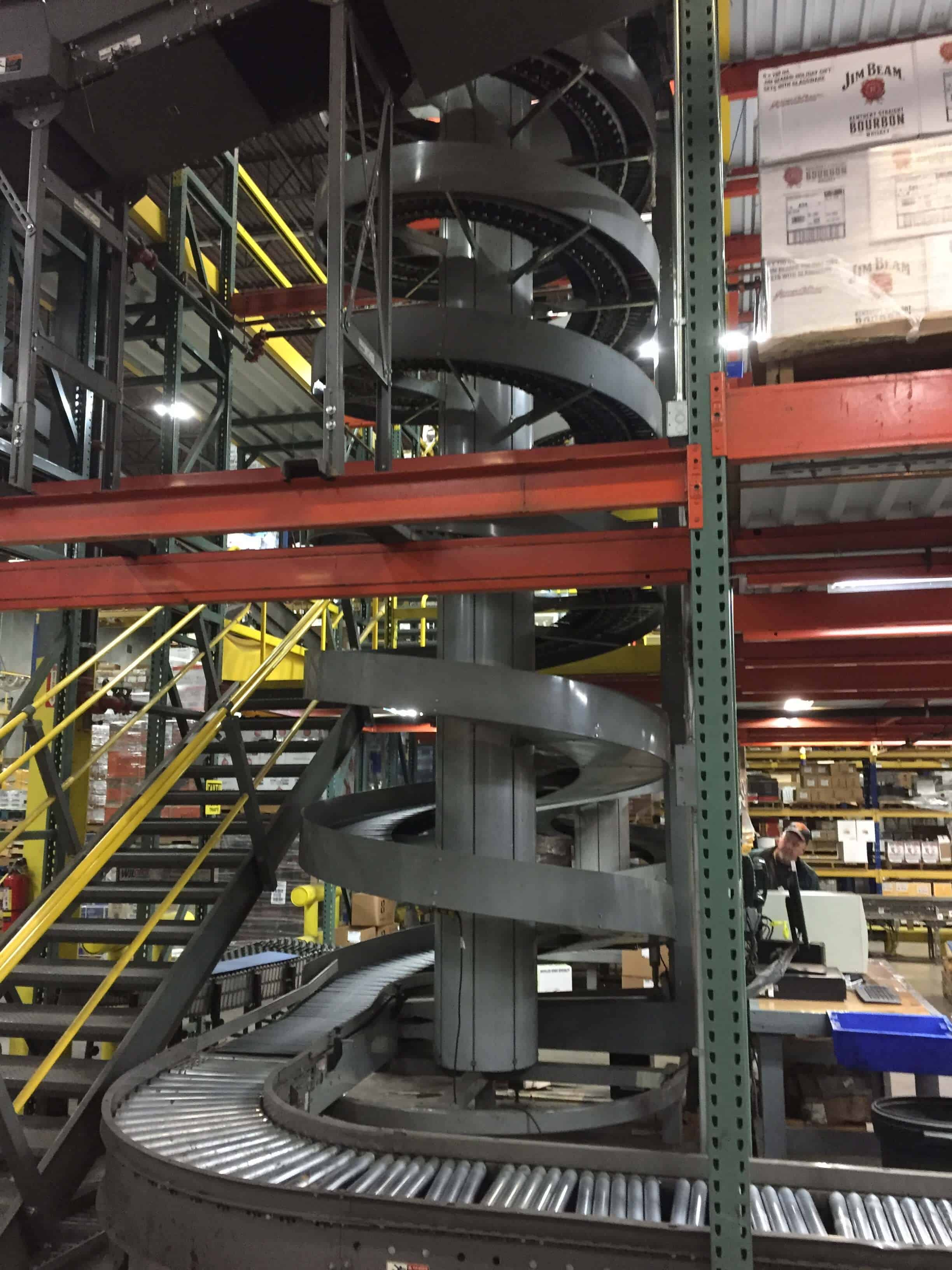 conveyor and trash shute